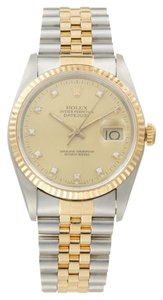 Rolex Rolex Datejust 18K/SS original Diamond Men's Watch