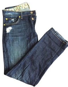 Rich & Skinny And And And And Distressed And Denim And And Relaxed Dark Wash And Dark Wash Boyfriend Cut Jeans-Dark Rinse