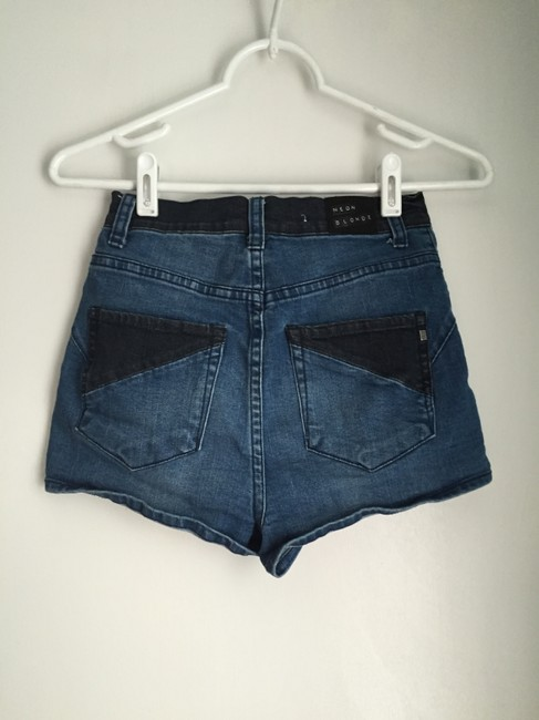 Neon Blonde Urban Outfitters High Waisted Shorts Blue Multi