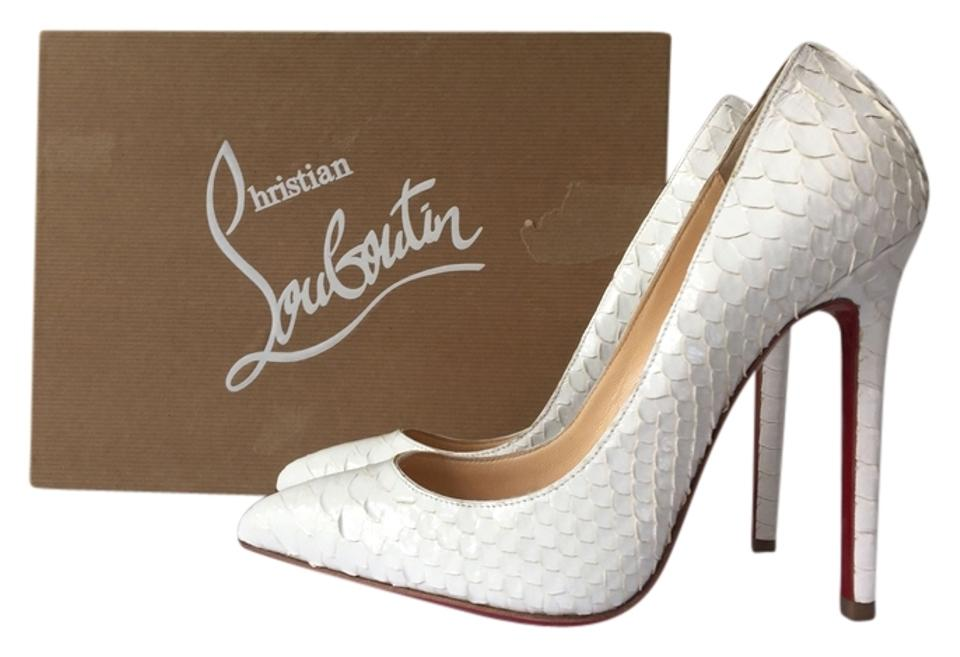 b168a5a3749 Christian Louboutin Pigalle 120mm Crystal Glacier Snakeskin So Kate Follies  White Pumps Image 0 ...