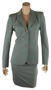 Moschino Moschino Couture Sea Foam Green Rayon Skirt Suit, Size 10 (51775)