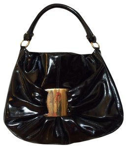 Salvatore Ferragamo Tote Patent Leather Shoulder Bag