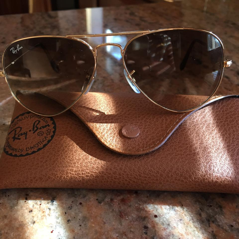 4729a3efe1 Ray-Ban Light Brown Gradient Aviator Rb3025 Sunglasses - Tradesy