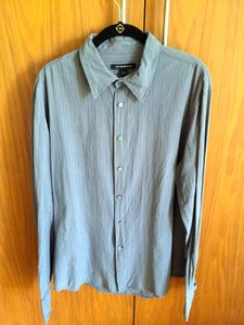 John Varvatos Dark Grey with Stripes Men's Dress Size Shirt