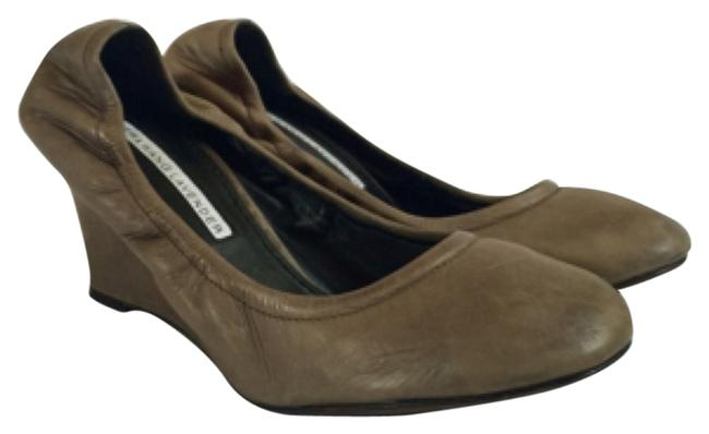 Vera Wang Lavender Label Gray Ella Dove Wedges Size US 5.5 Regular (M, B) Vera Wang Lavender Label Gray Ella Dove Wedges Size US 5.5 Regular (M, B) Image 1