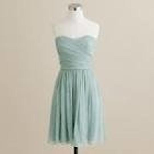 J.Crew Green Arabelle In Silk Chiffon Bridesmaid/Mob Dress Size 12 (L)