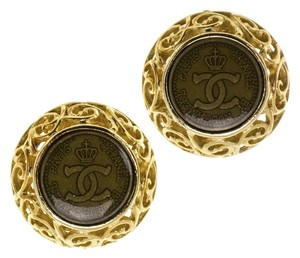 Chanel Chanel Vintage Rue Cambon Button Earrings