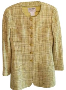 Chanel Green/Yellow blend Blazer