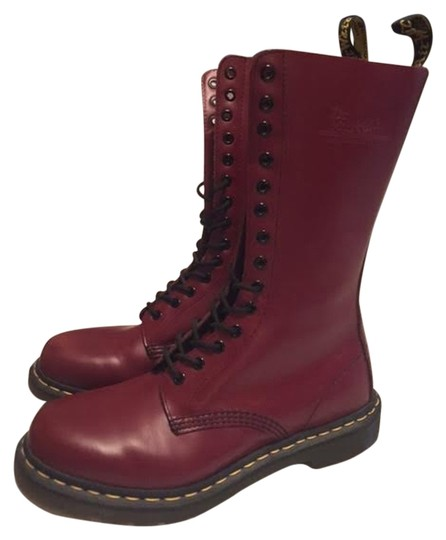 Dr. Martens Leather Punk Red Boots