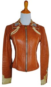 East West Musical Instruments Multicolor Leather Jacket