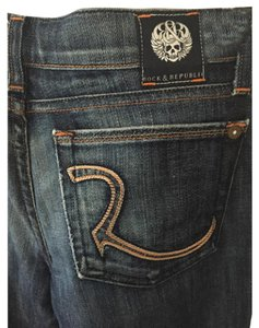 Rock & Republic Long Dark Washed Tall Boot Cut Jeans