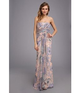 Badgley Mischka Floral, Pink Purple Eg1294 Dress