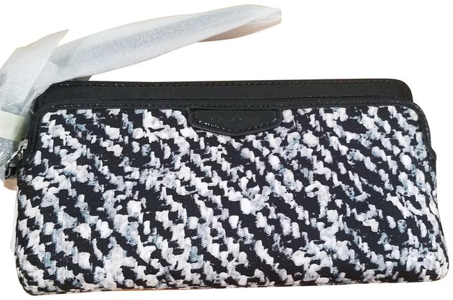 Coach Silver/Ivory Multi Double Zip Phone Wallet Coach Silver/Ivory Multi Double Zip Phone Wallet Image 1
