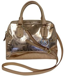 Michael Kors Leather Monogram Mk Cross Body Bag