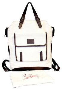 Christian Louboutin Spike Canvas Summer Studs Dompteuse Backpack