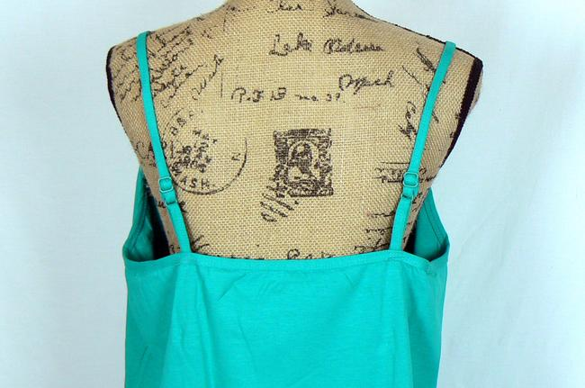 Jessica London Yoga Green Fitted Adjustable Top Green Jade