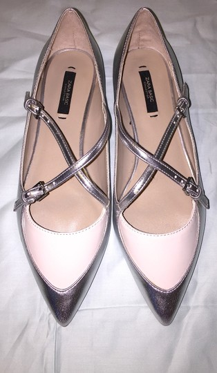 Zara Pointed Toe Ballerina Mary Jane 38 Size 8 Us 8 S Pointed Pointed S Pointed Designer Louis Vuitton Louis S S Silver Flats