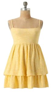 Anthropologie short dress Canary Yellow on Tradesy