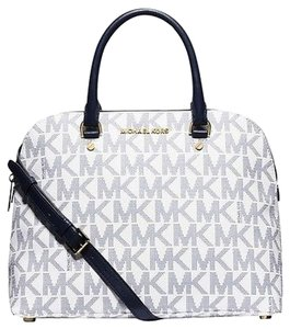 Michael Kors Satchel in Vanilla & Blue