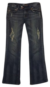 Miss Me #distressed Holes Boot Cut Jeans-Distressed