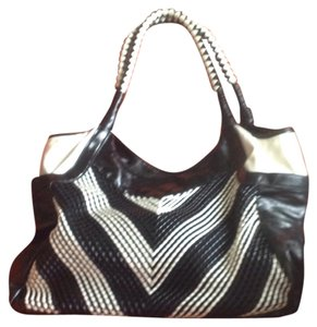 Nicole Lee Satchel in Black And White