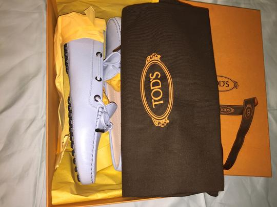Tod's Hermes Prada Louis Vuitton Chanel Driving Loafers Sky Blue Flats
