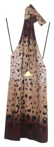 bebe Halter Ombre Leopard Low Back Sexy Dress