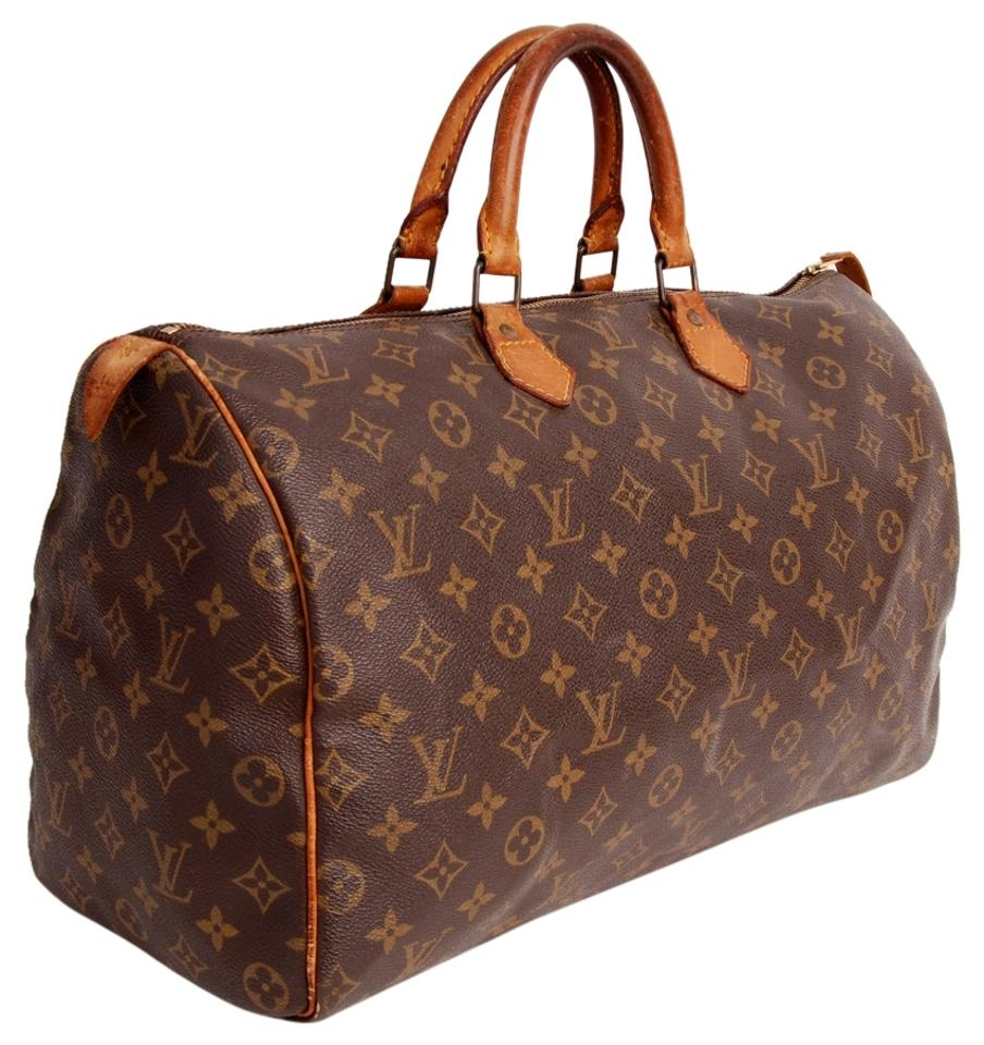 e7464651d743 Louis Vuitton Speedy 40 Pre Owned) 1992 Brown Monogram Satchel - Tradesy