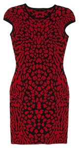 RVN intermix Exclusive Sexy Stretch Knit Jacquard Body Con Dress