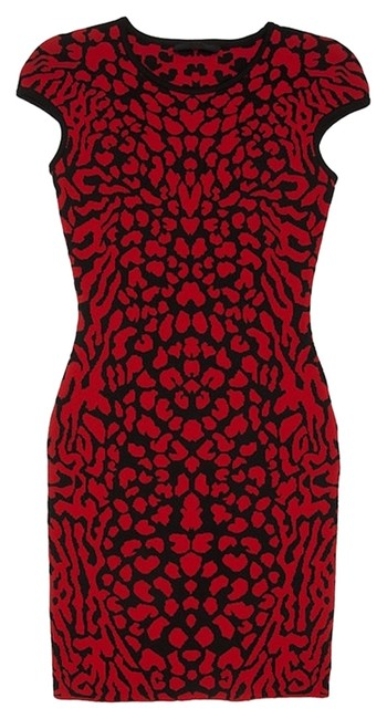 Preload https://item1.tradesy.com/images/red-and-black-sexy-stretch-knit-jacquard-body-con-above-knee-night-out-dress-size-8-m-5579605-0-0.jpg?width=400&height=650
