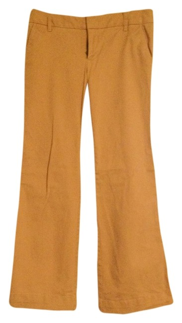 Gap Dress Bootcut Stretchy Work Office Dressy Lycra Trouser Pants Tan
