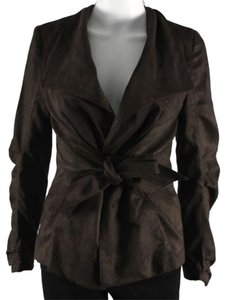 Zara Ultra Suede Chocolate Brown Blazer