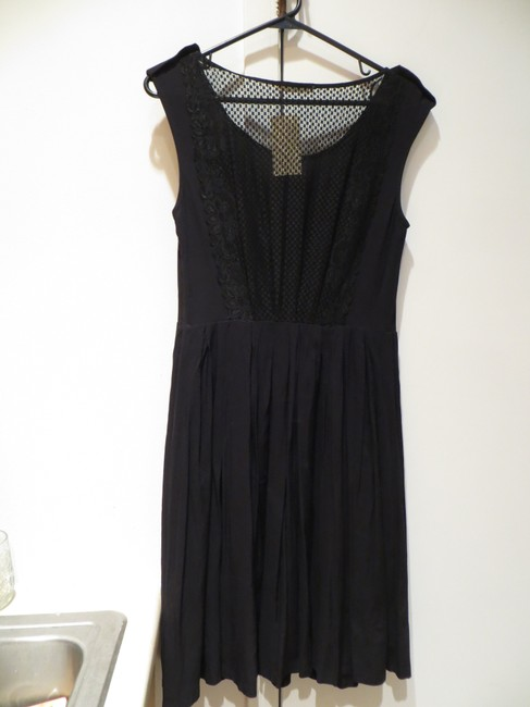 Nine Bird short dress Black Lbd Lace Open Fit And Flare Little Knee Length Anthropologie on Tradesy