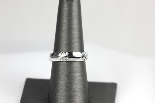 Tiffany & Co. Streamerica 18k White Gold and Diamond wedding band by Tiffany & Co