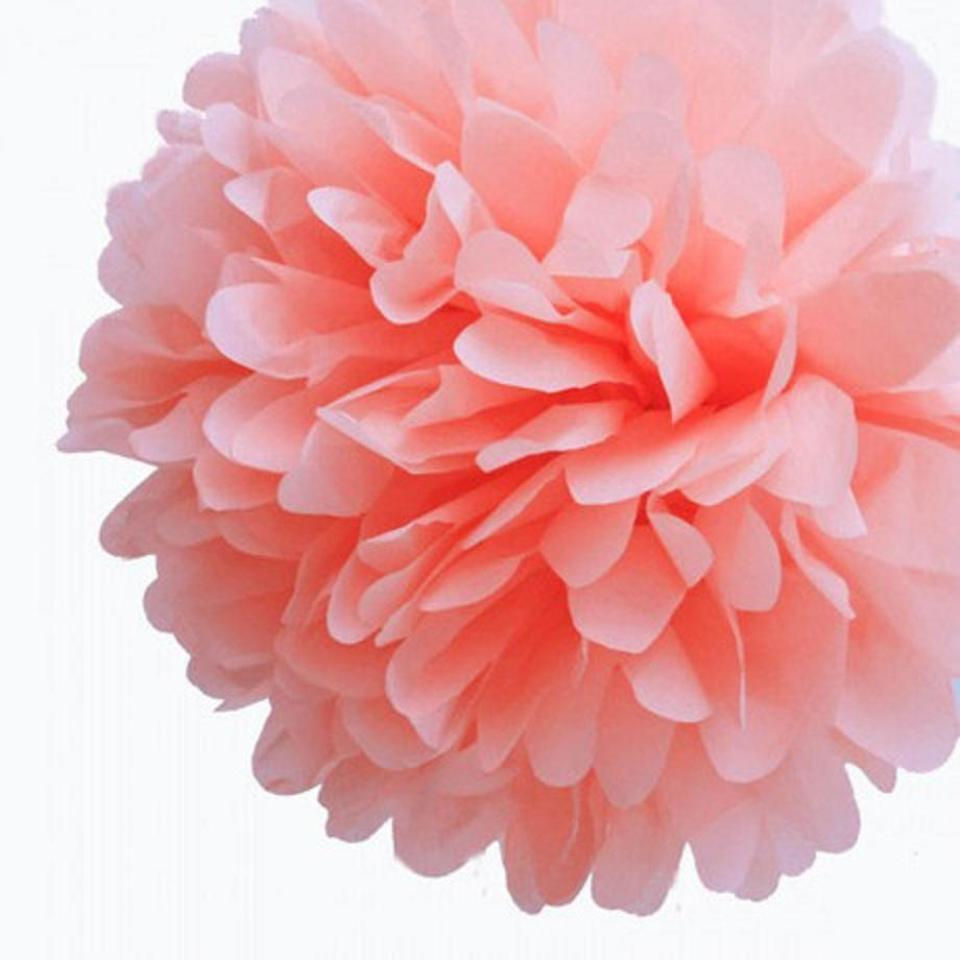 Light Pink 30pcs 4 8 12 Mixed 3 Sizes Tissue Paper Pom Poms