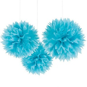 """Blue 30pcs - 4"""" 8"""" 12"""" Mixed 3-sizes Tissue Paper Pom-poms Pompom Flower Party Home Indoor Outdoor Hanging Other"""