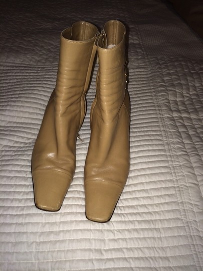 Chanel Tan Boots