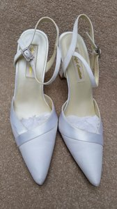 Colorful Creations Colorful Creations Luxe/satin Ivory Strap Shoes Wedding Shoes