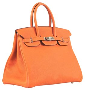 Hermès Togo Leather Birkin Tote in orange