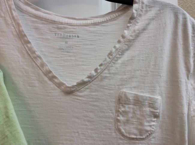 Van Huesen Van T T 100% Cotton T- T Shirt Mint and White