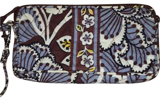 Vera Bradley Wristlet in Brown, Beige And Blue