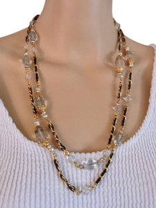 Chanel CHANEL RARE VINTAGE '94A GOLD PLATED CRYSTAL SATOIR NECKLACE