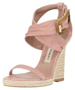 Burberry Catsbrook Blush Pink Nude Wedges