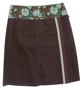 Anna Huling Skirt Brown w Floral Waist