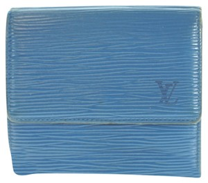Louis Vuitton Authentic LOUIS VUITTON Three-fold Wallet (Coin There Pocket) Epi Leather
