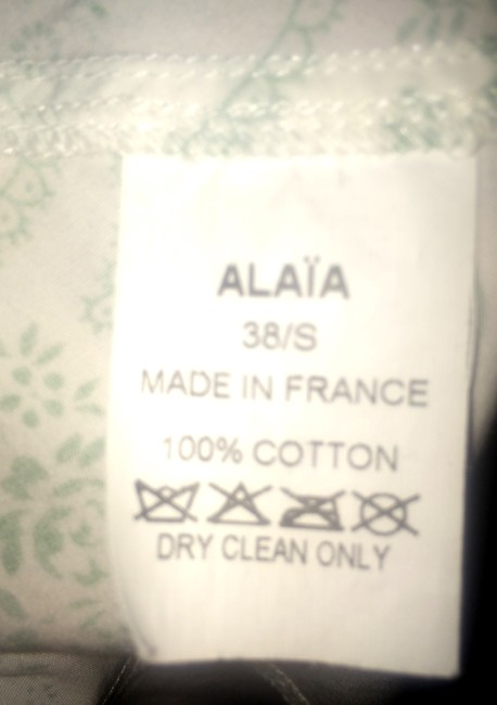 ALAÏA Skirt White and Green
