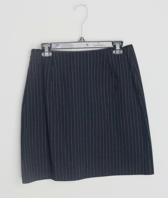 Gap Skirt BLack Pinstripe