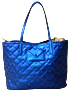 Marc by Marc Jacobs Quilted New Tote in Metallic Blue