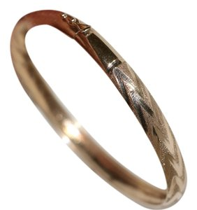10k Yellow Gold Bangle Bracelet Stamped JJT 10K