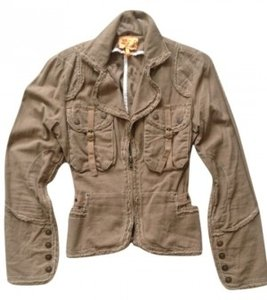 Twill Twenty Two Soft Loose Great Detail Casual Wear Light beige Jacket